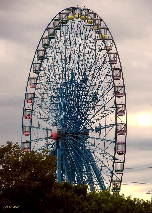 Wheel Digital Art - Big Wheel Keep On Turning by Alec Drake