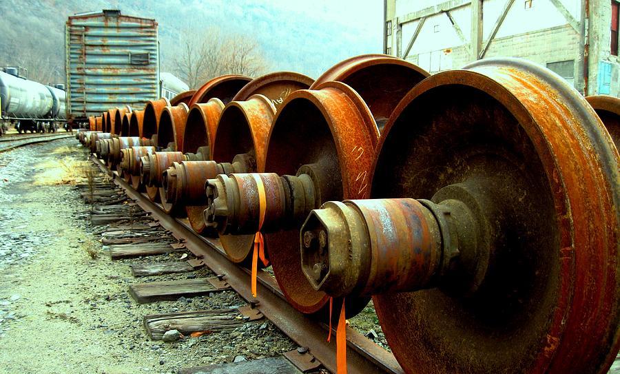 Railroad Photograph - Big Wheels by Will Boutin Photos