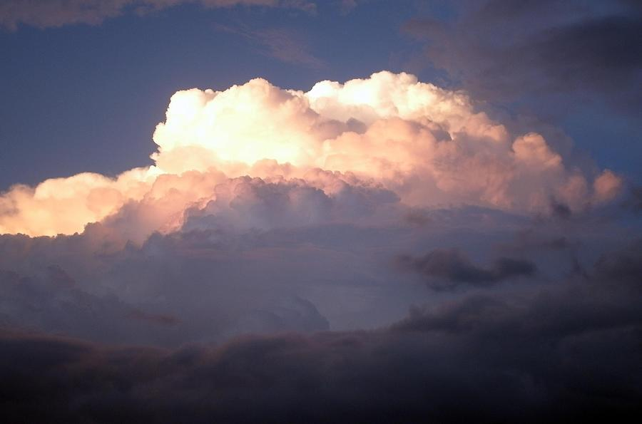 Big Cloud Photograph - Big White Cloud by Julia  Walsh