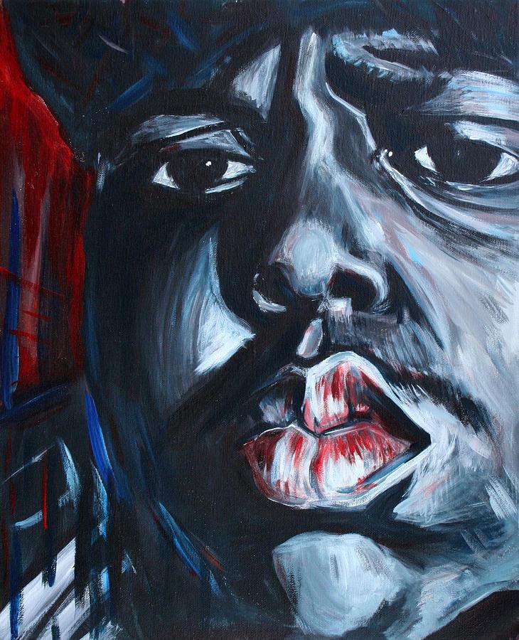 Biggie Painting - Biggie by Kate Fortin