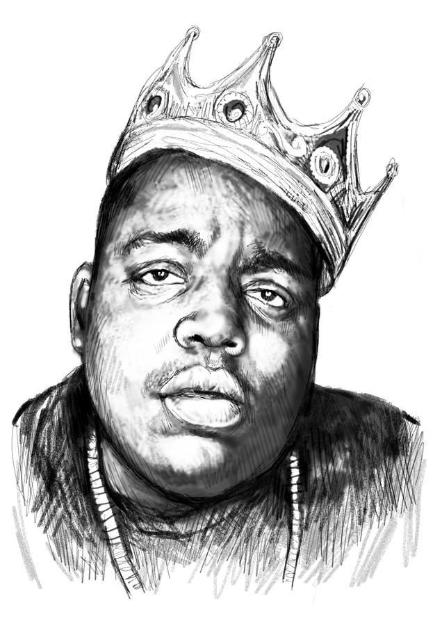 Biggie Smalls Art Drawing Sketch Portrait 1 Painting By