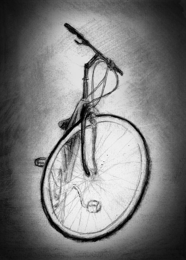 Bike Drawing - Bike by Di Fernandes
