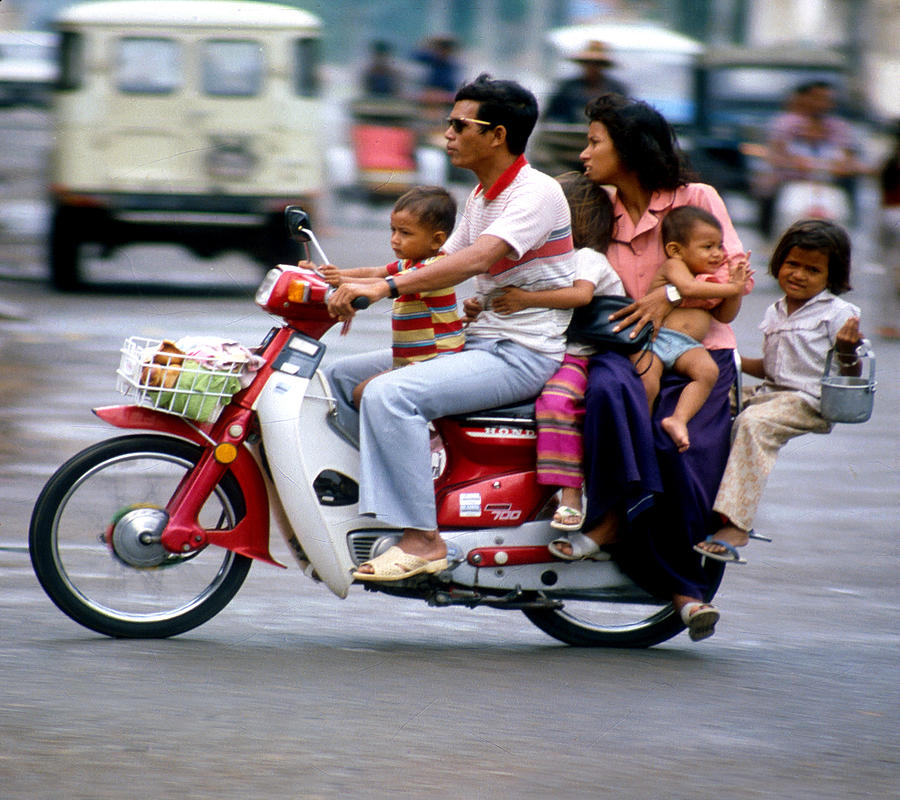 Family Car In Cambodia by Joe Connors