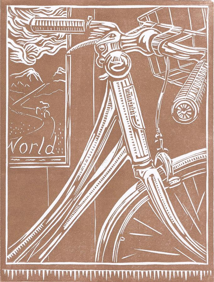 Bicycles Drawing - Bike Shop Window by Jennifer Harper