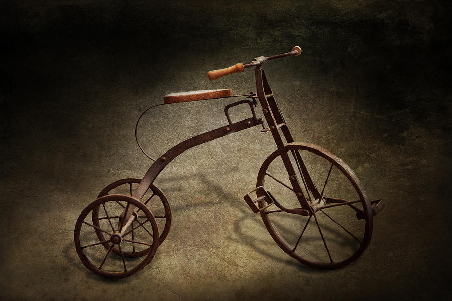 Hdr Photograph - Bike - The Tricycle  by Mike Savad