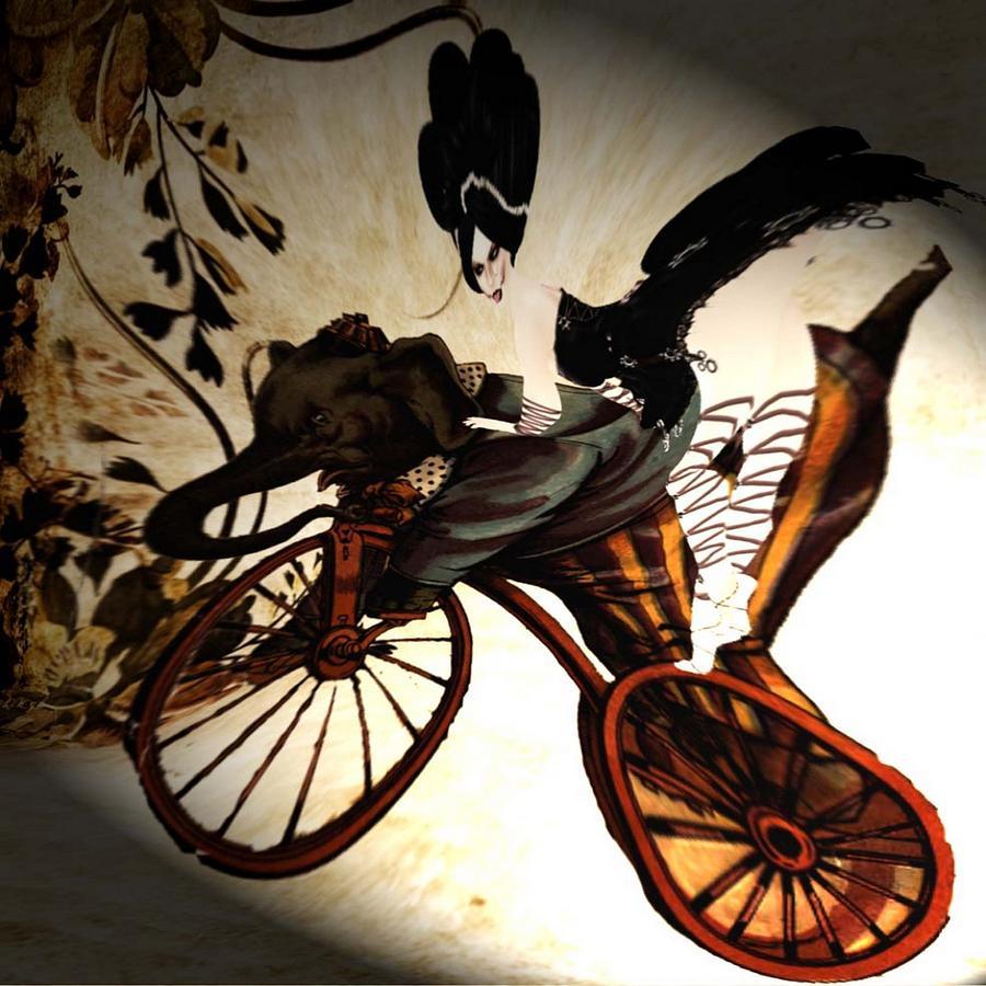 Bike Digital Art - Bike by Theda Tammas
