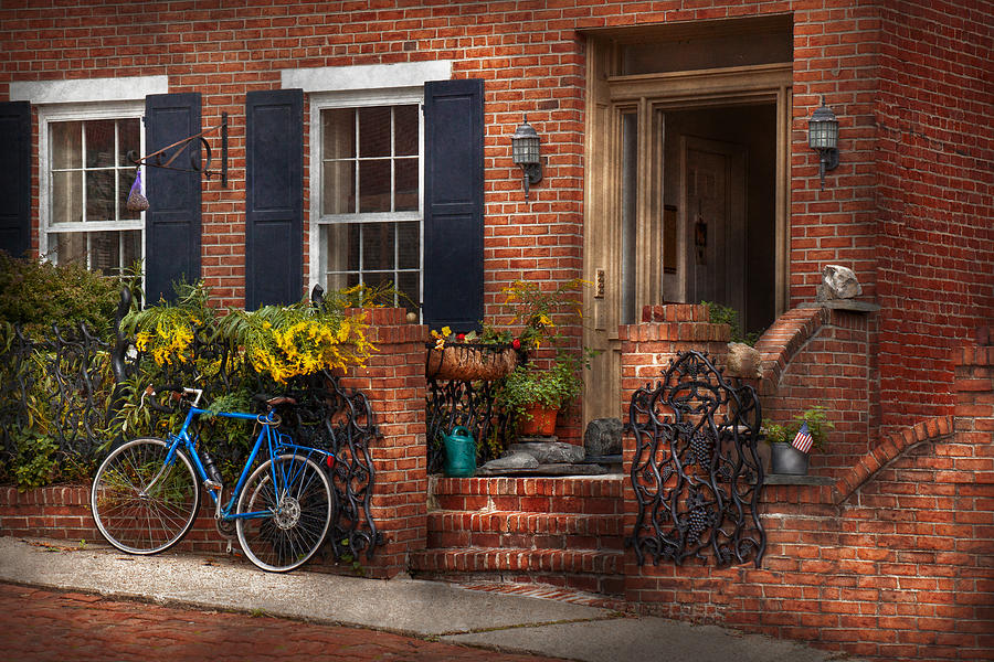 Hdr Photograph - Bike - Waiting For A Ride by Mike Savad