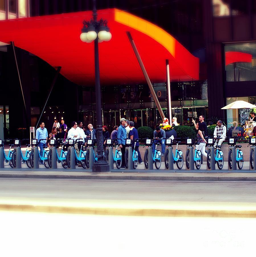 Bikes Chicago Photograph