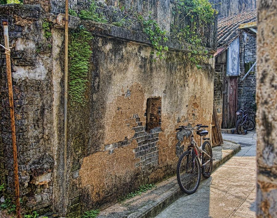 Bike Photograph - Bikes by Karen Walzer