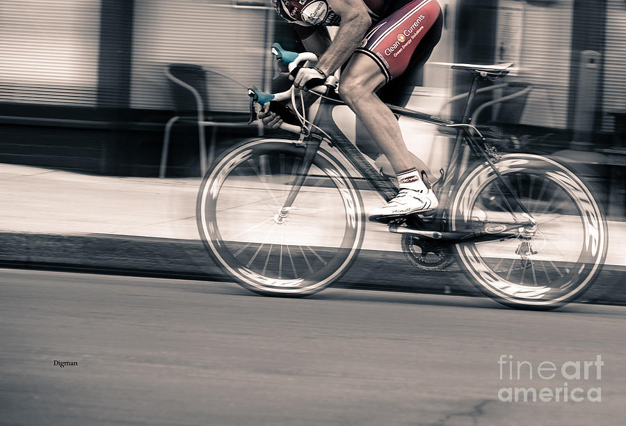 Bicycle Photograph - Biking By Speed  by Steven Digman