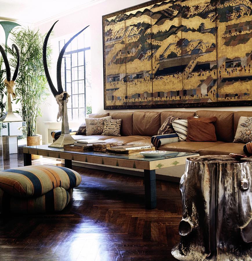 Bill Blass Living Room Photograph By Horst P