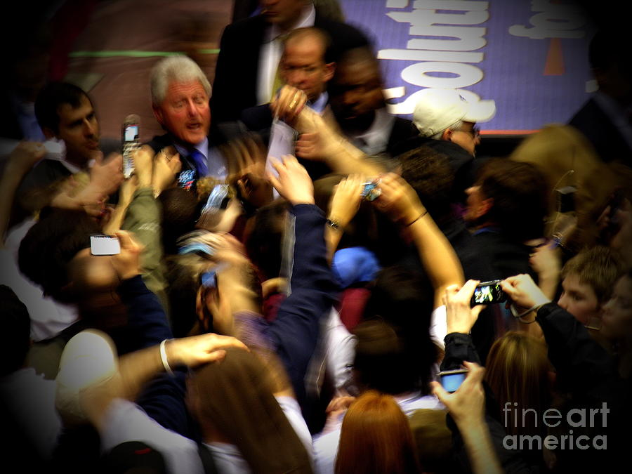 Bill Clinton Photograph - Bill Clinton At Muhlenberg College by Jacqueline M Lewis