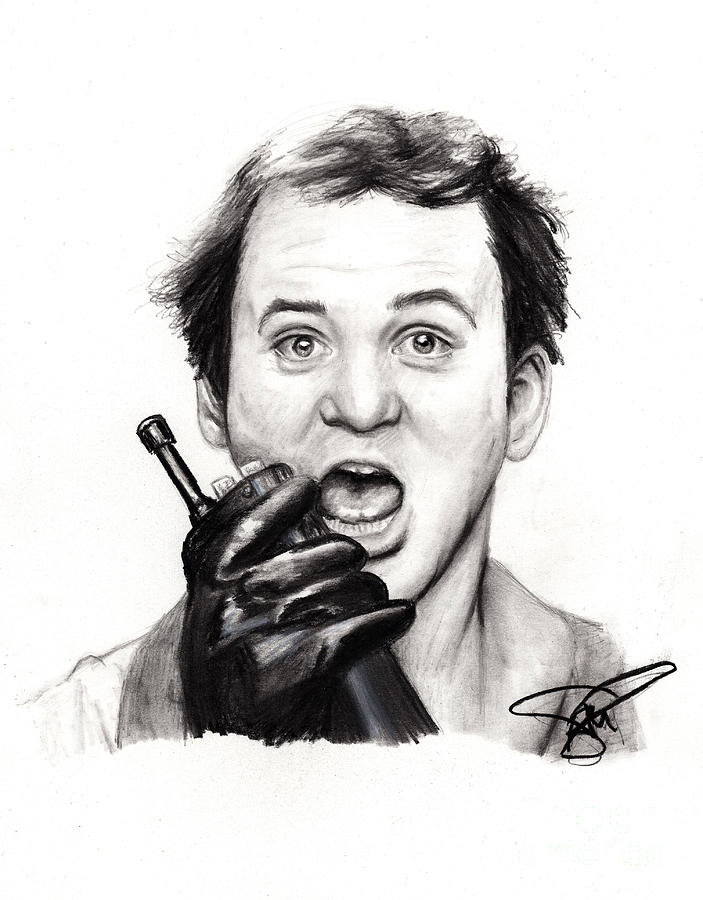 Bill Murray Drawing - Bill Murray by Rosalinda Markle