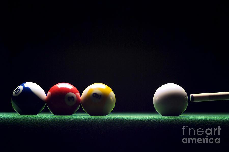 Billiard Photograph By Tony Cordoza