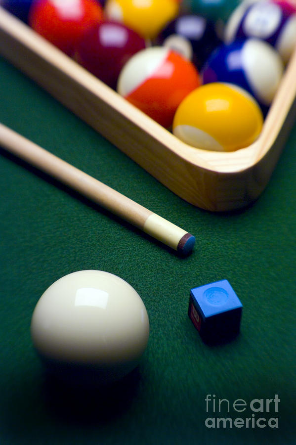 Pool Table Wall Art   Photograph   Billiards By Tony Cordoza