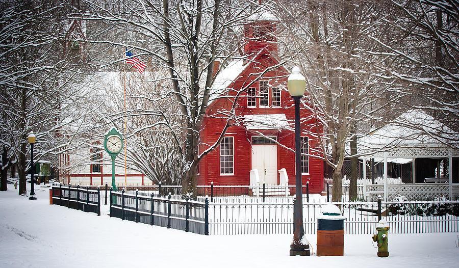 Landscape Photograph - Billie Creek Village Winter Scene by Virginia Folkman