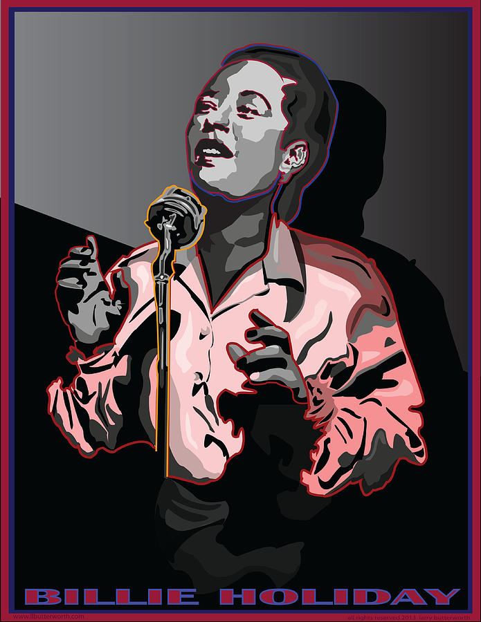 Billie Holiday Digital Art - Billie Holiday Jazz Singer by Larry Butterworth