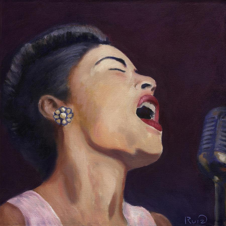 Billie Holiday Painting - Billie Holiday by Linda Ruiz-Lozito