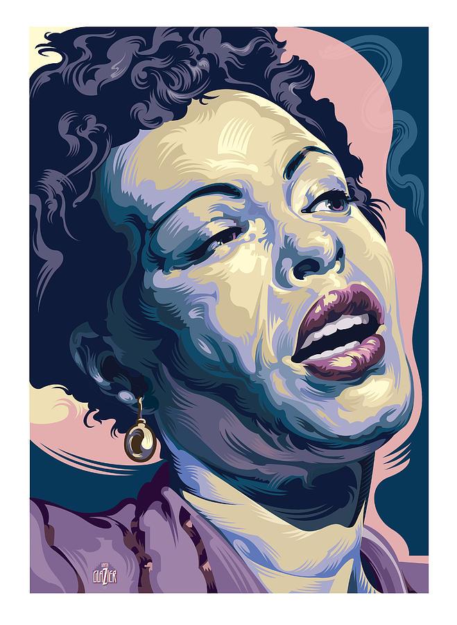 Billie Holiday Portrait 2 Digital Art