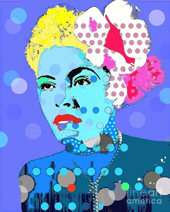 Billie Holiday Digital Art - Billie Holiday by Ricky Sencion