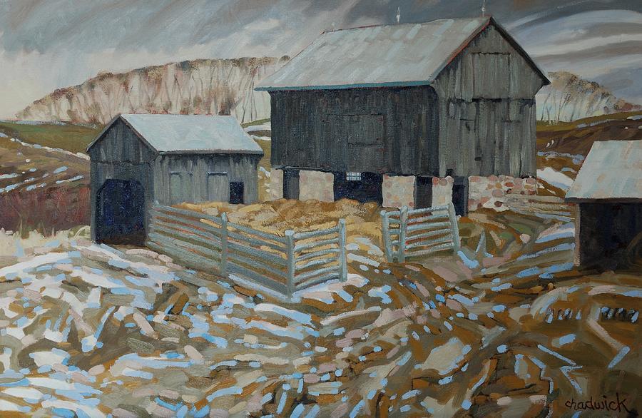 King Painting - Bills Barns by Phil Chadwick