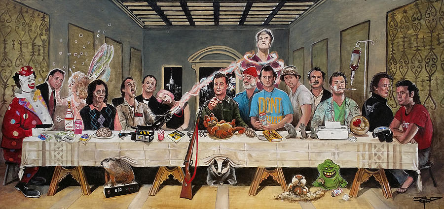bills last supper painting by tom carlton