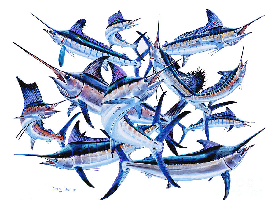 Billfish Painting - Bills Off0044 by Carey Chen