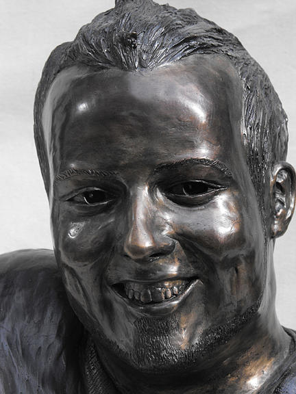 Bronze Sculpture - Billy Bridges Close Up Face. by JA Fligel