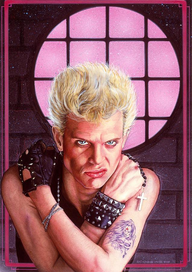 Billy Idol Painting - Billy Idol by Timothy Scoggins