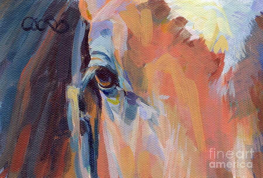 Thoroughbred Painting - Billy by Kimberly Santini