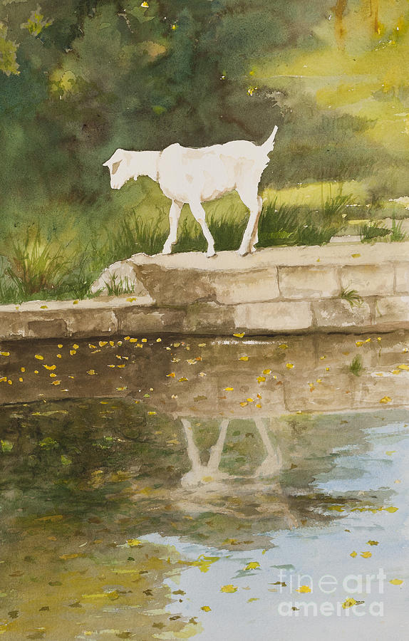 White Goat Painting - Billy The Kid by Carla Dabney