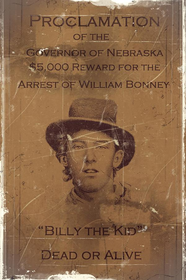 Billy The Kid Wanted Poster Digital Art by Movie Poster Prints