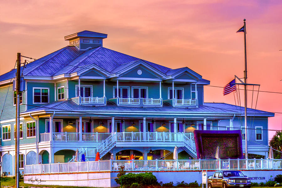 Biloxi Yacht Club Photograph - Architecture - Biloxi Yacth Club by Barry Jones