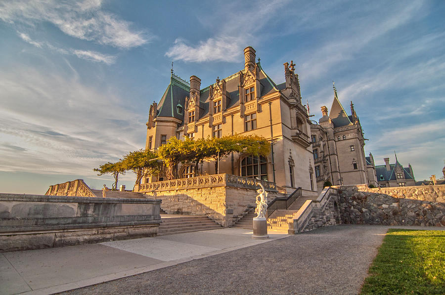 Asheville Photograph - Biltmore Sunset by Donnie Smith