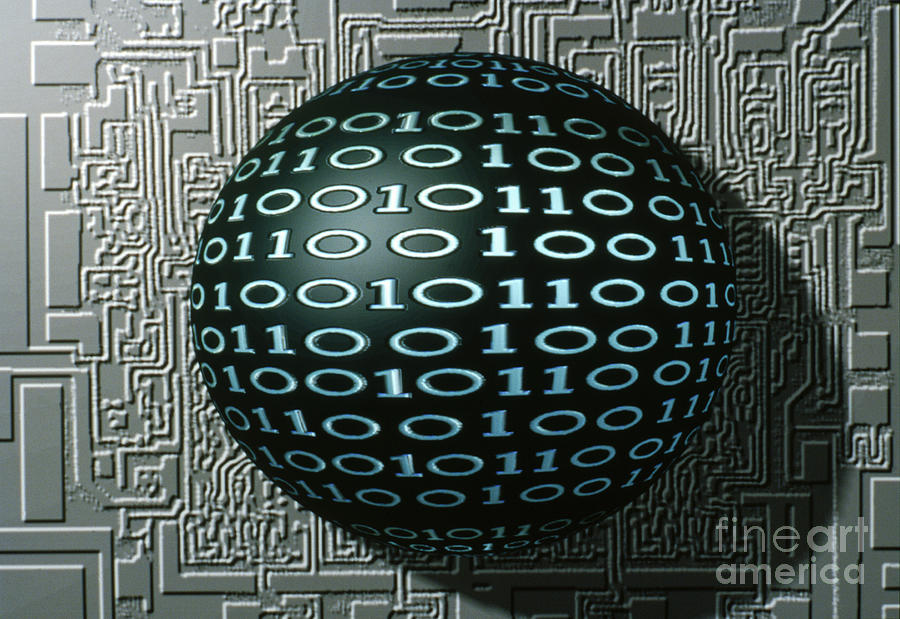 Circuit Photograph - Binary Sphere by Gregory MacNicol