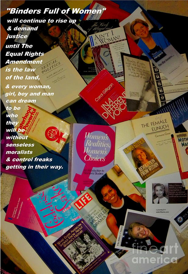 Women Photograph - Binders Full Of Women by Perry Conley