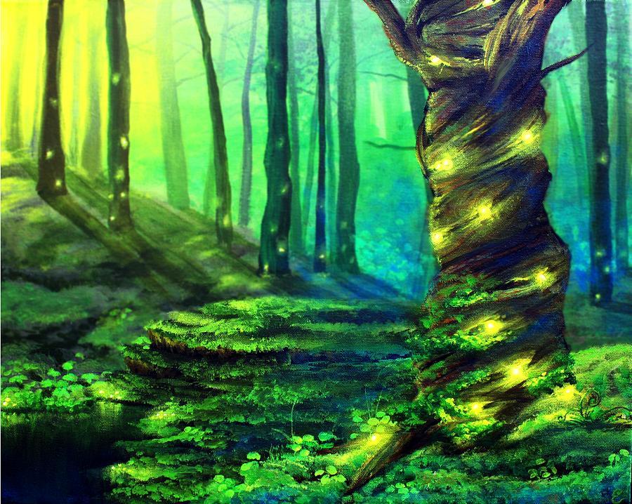 Landscape Painting - Bioluminescence by Erin Scott