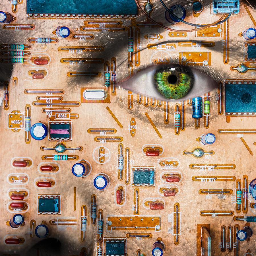 Eye Photograph - Bionic Man by Semmick Photo