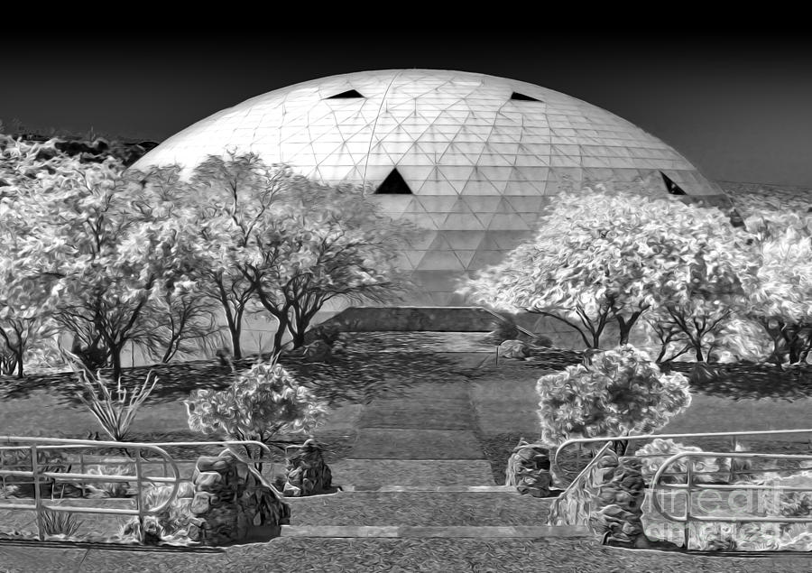 Biosphere2 Photograph - Biosphere2 - Dome Panorama by Gregory Dyer