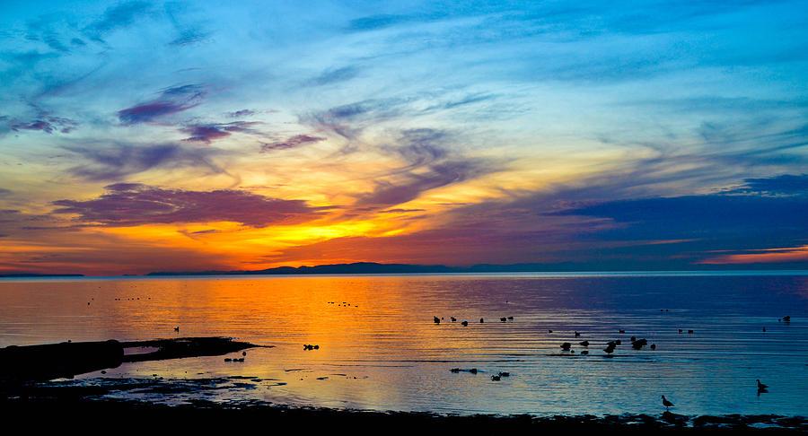 Birch Bay Photograph - Birch Bay Sunset 2 by Blanca Braun