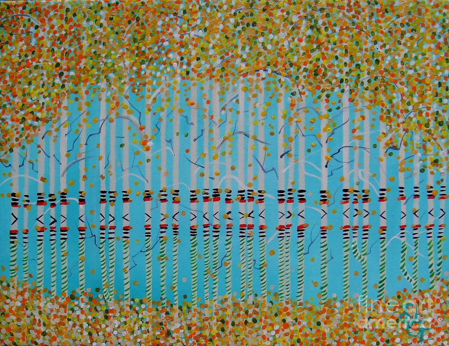 Birch Painting - Birch Confetti by Deborah Glasgow