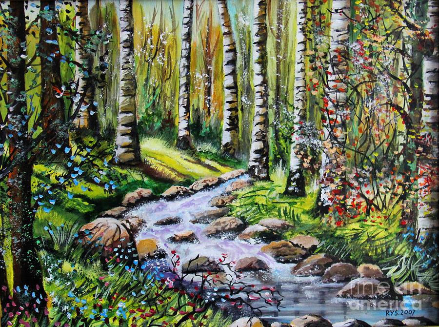 Birch Tree Heaven Painting