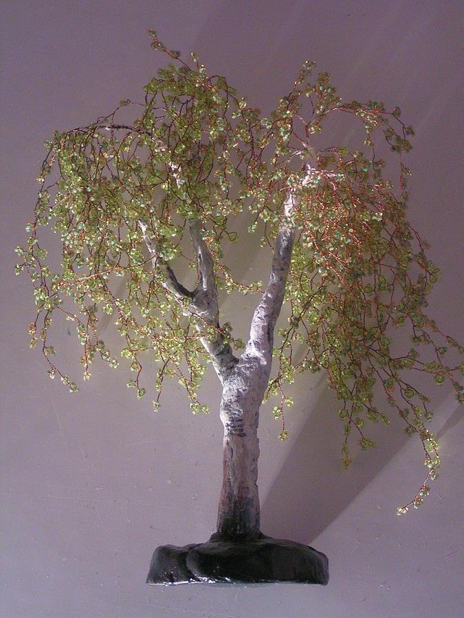 Wire Tree Sculpture - Birch Tree by J-Star Wind