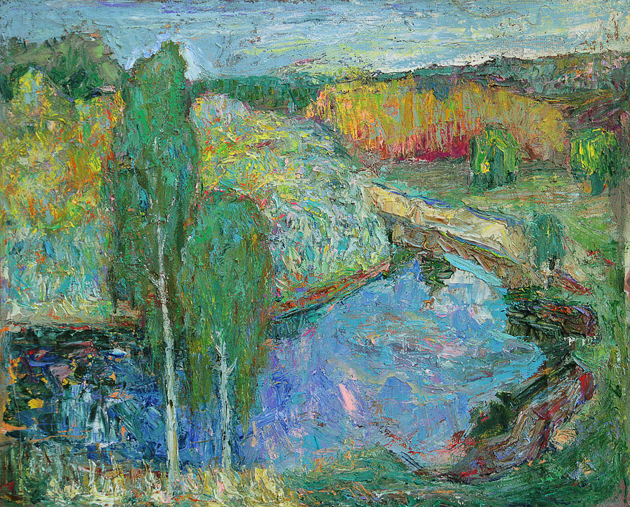 Landscape Painting - Birches by Evgen Bondarevskiy