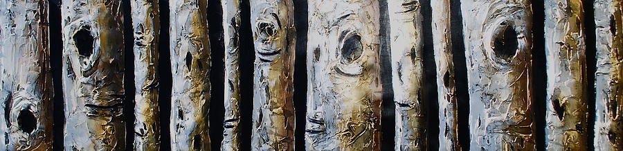 Tree Mixed Media - Birches Standing Before You by Lori McPhee