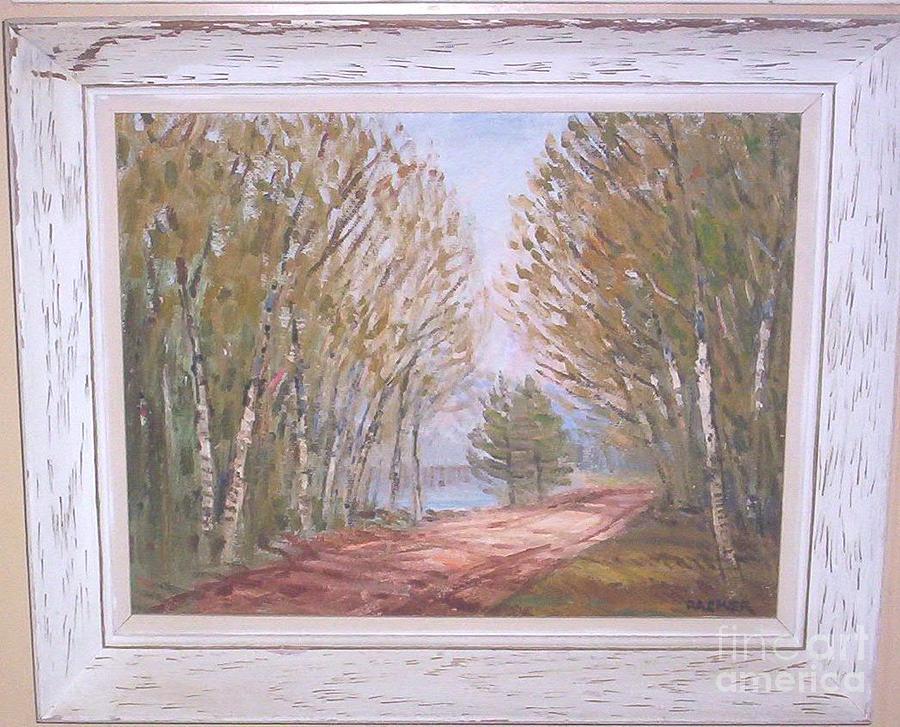 Birchroad Painting by Richard Gordon Packer