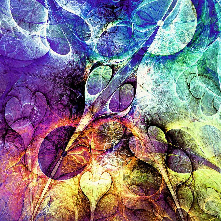 Hearts Digital Art - Bird And Flowers by Anastasiya Malakhova