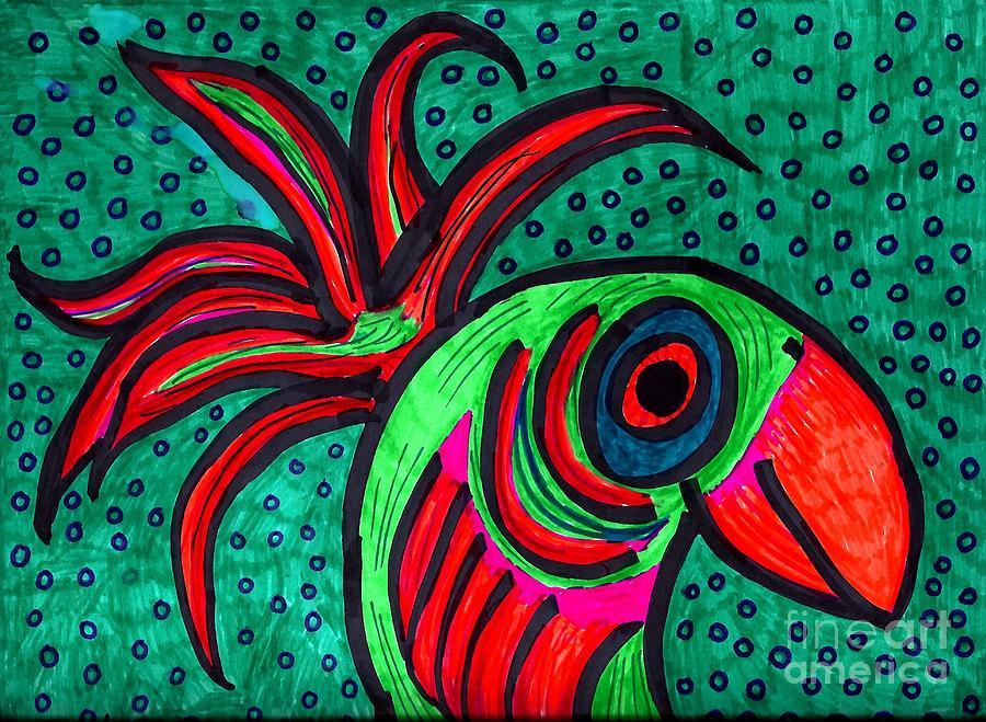 Bird Elegance Drawing