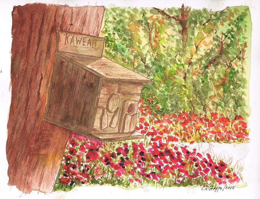 Nature Painting - Bird Home In Kaweah - California by Carlos G Groppa