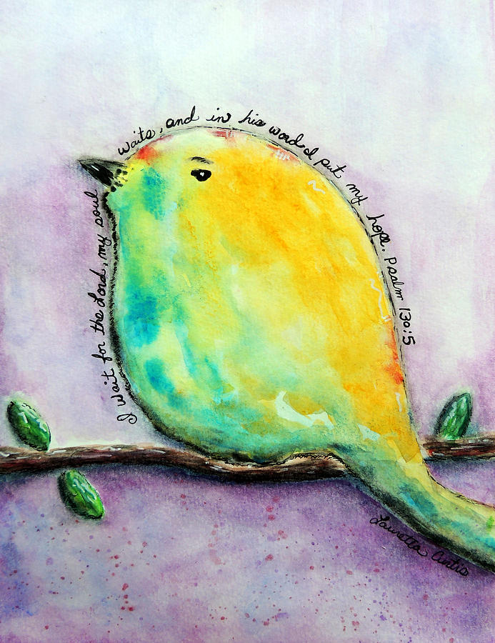 Bird Of Hope Painting by Lauretta Curtis